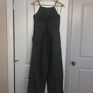 Olive green Abercrombie & Fitch jumpsuit